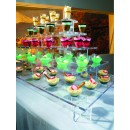 Rosseto PLC562 Clear Acrylic Pagoda Large Four-Tier Centerpiece Buffet Display addl-1