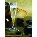 Rosseto L50300 Liteware Clear Plastic Champagne Flute 4 oz. (Case Of 144) addl-1