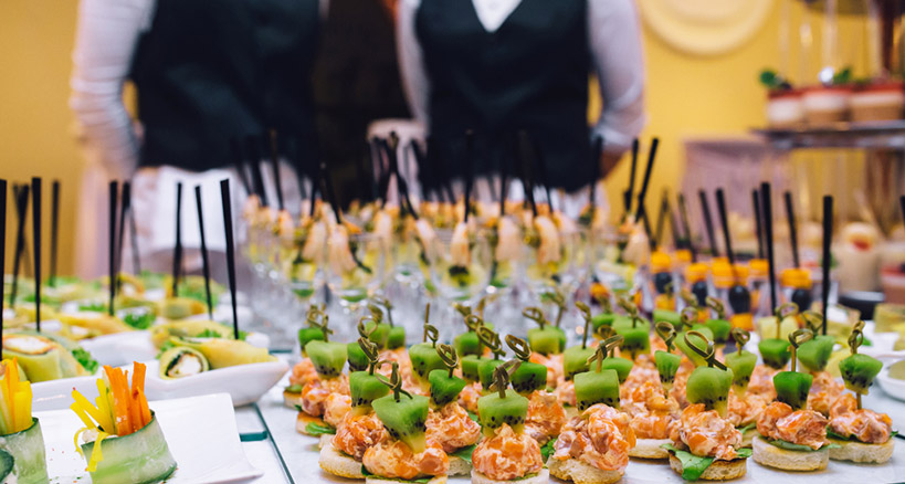 Choose from a wide range of catering niche options