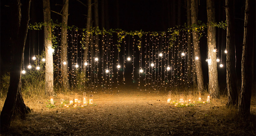 Strategic uses for outdoor lighting for a great outdoor event fabulous lighting ideas can transform an outdoor event mozeypictures Image collections