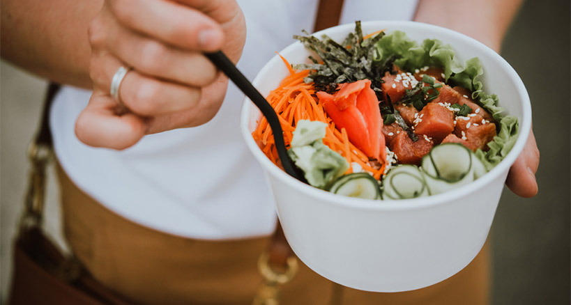 Making your own poke bowl