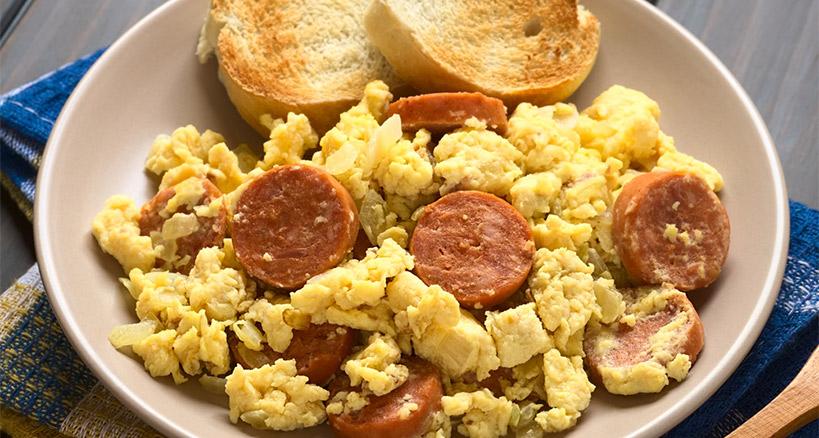 Chrorizo scrambled eggs