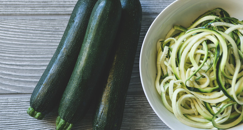 Zoodles instead of pasta