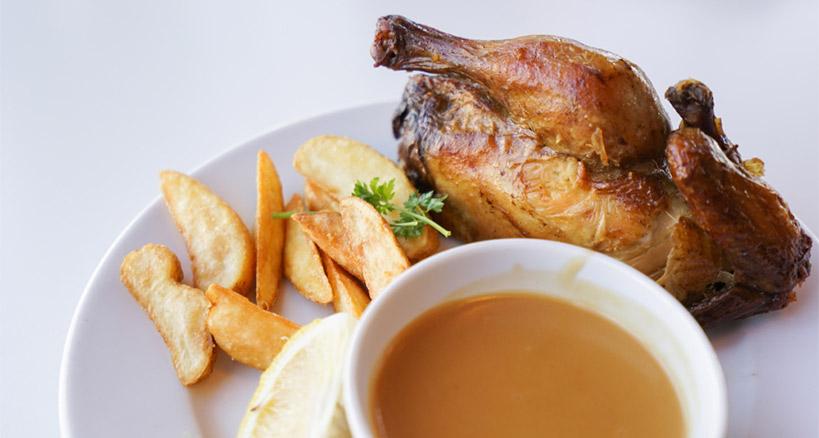 Easy rotisserie chicken