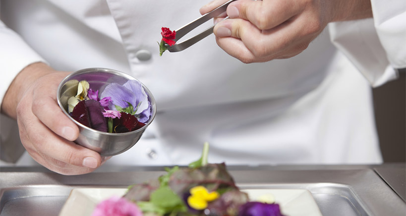 How to choose edible flowers