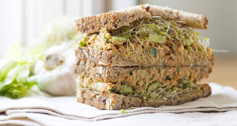 Non-tuna salad sandwich