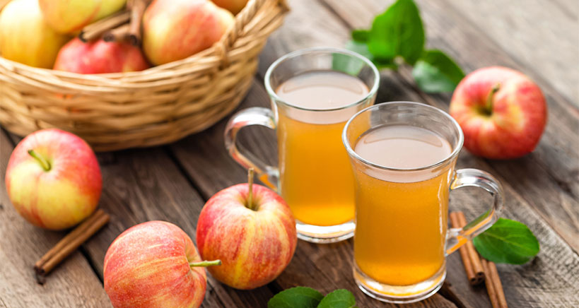 Orchard apple cider mocktail
