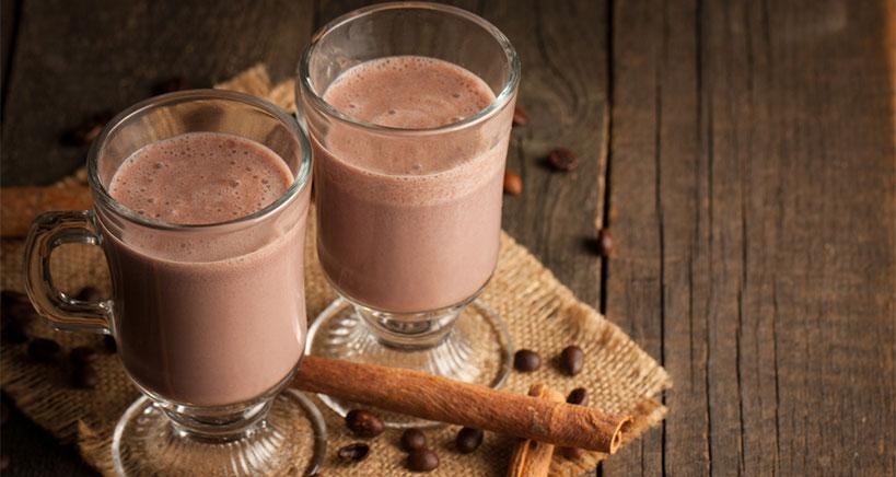 Chocolate banana pea protein shake