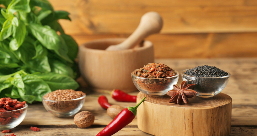 : Add immune-boosting spices and herbs to your dishes post-corona menu.