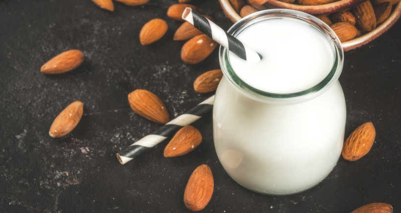 Make your own homemade almond milk from scratch.