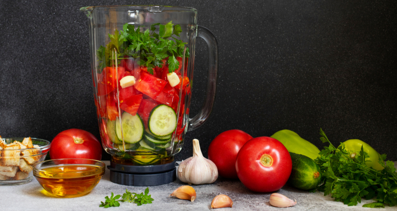 Blenders take the hard work out of making tasty gazpacho in your restaurant.