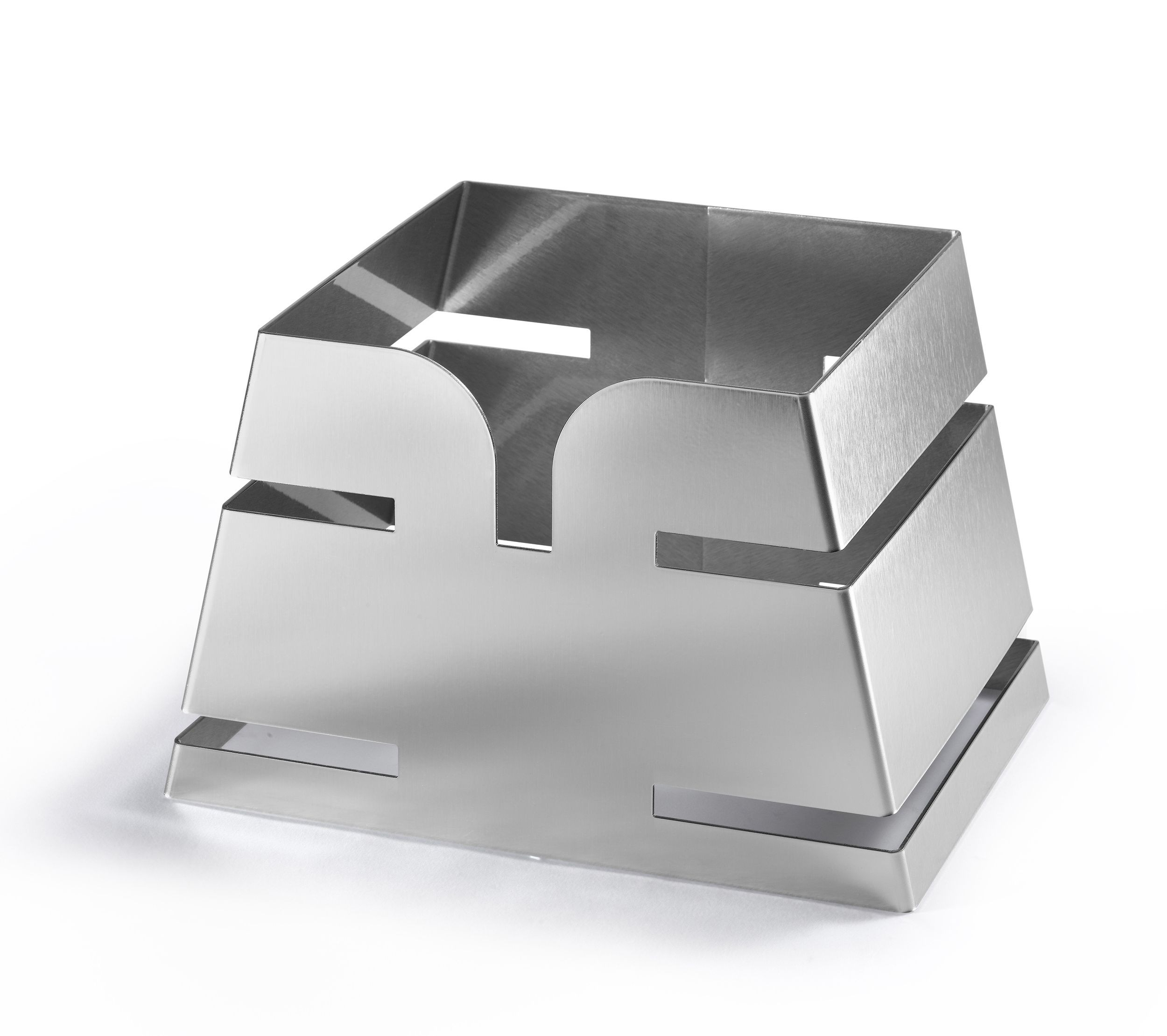 "Rosseto LD135 Large Pyramid Stainless Steel Skycap Riser 11.65"" x 8.3"" x 7.5""H"