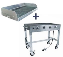 Portable Commercial Gas Grill Base & Charbroiler