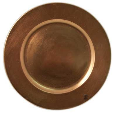 Round Acrylic Copper Charger Plate, 13