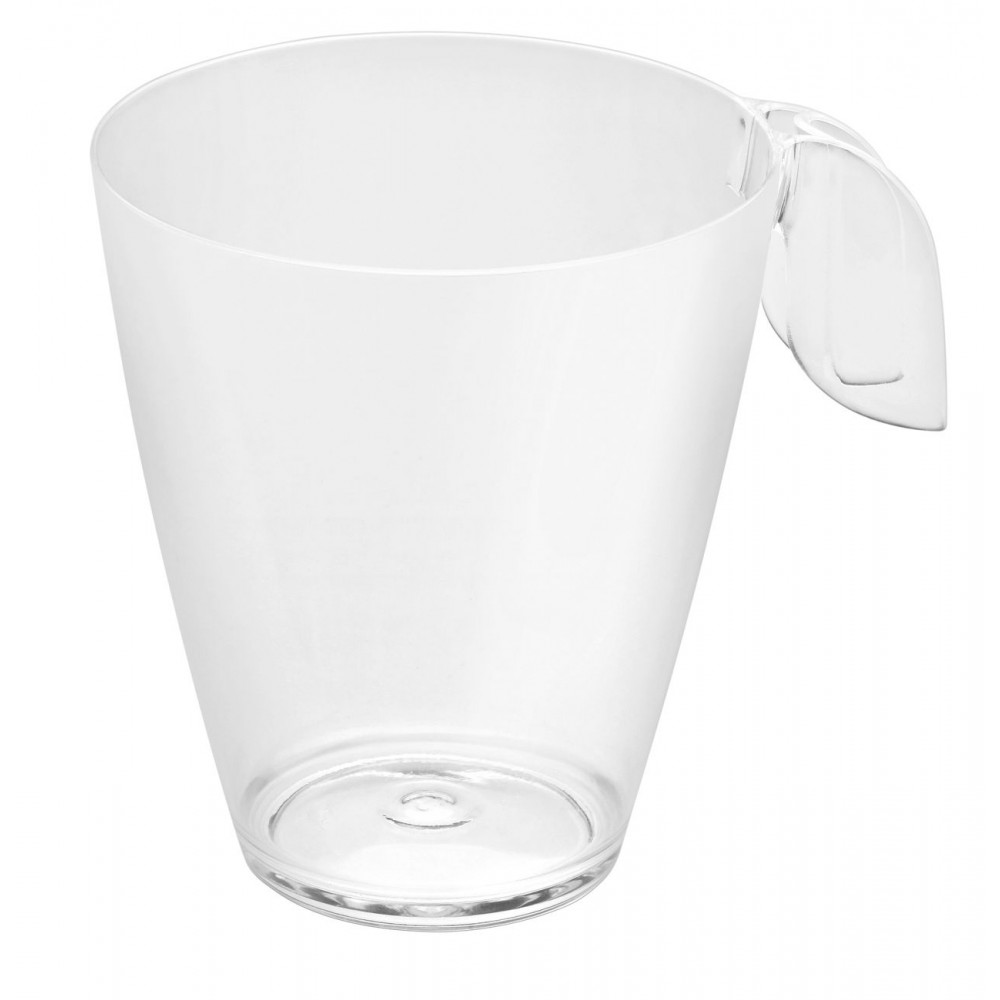 Rosseto L50600 Liteware Clear Plastic Leaf Coffee Cup 8 oz. (Case Of 100)