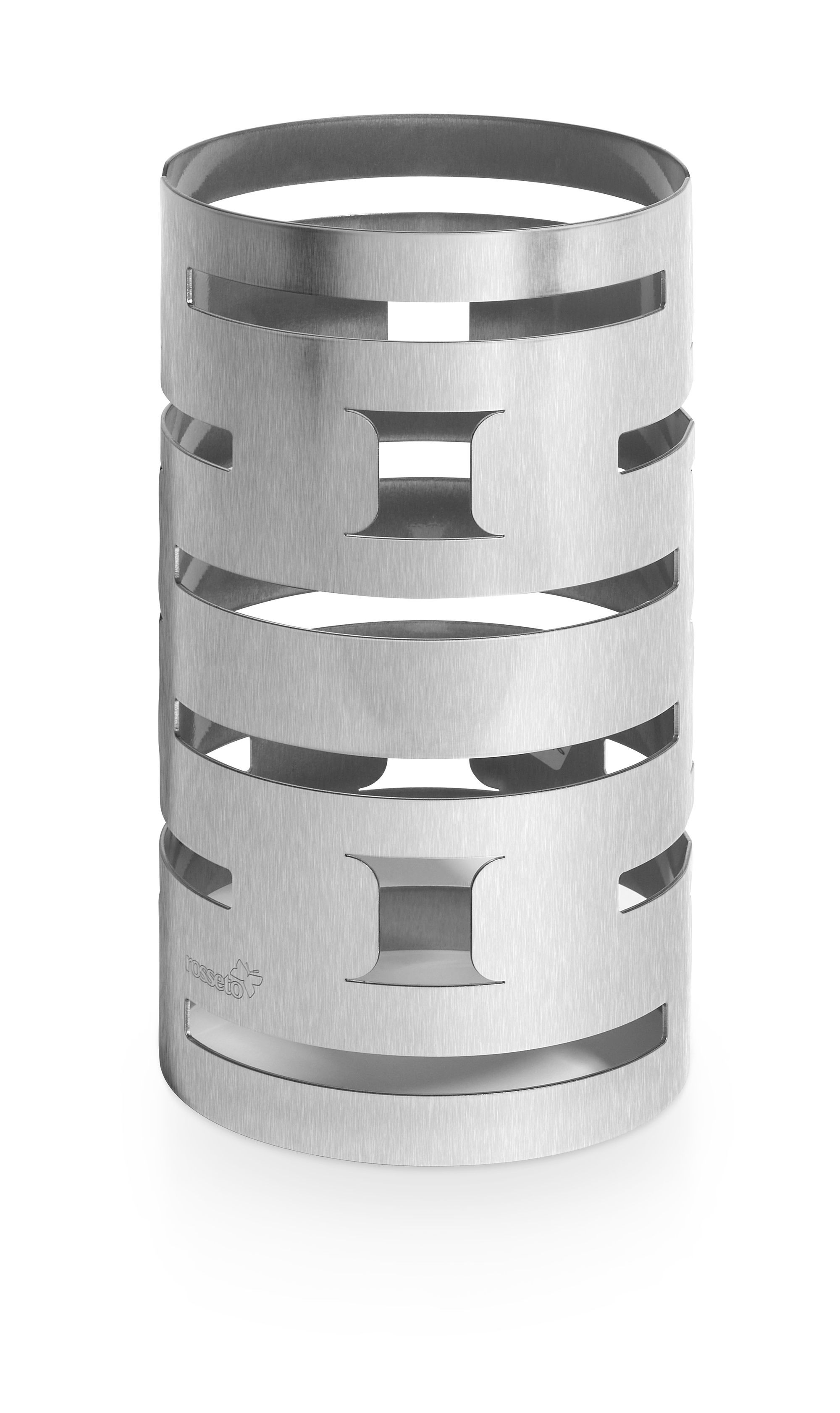 "Rosseto SM184 Skycap Stainless Steel Round Multi-Level Rise- 6.38"" x 6.38"" x 12""H"