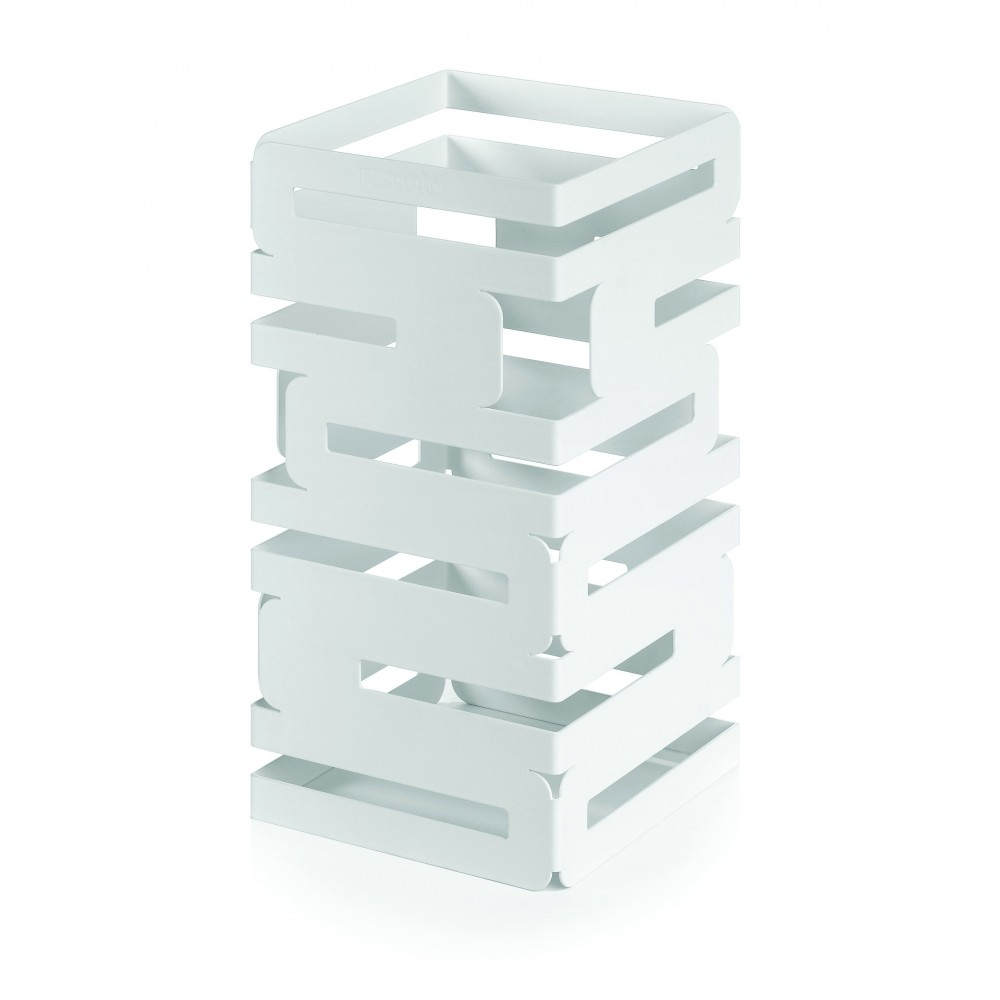 "Rosseto SM130 Skycap White Matte Steel Square Multi-Level Riser 6"" x 6"" x 12""H"
