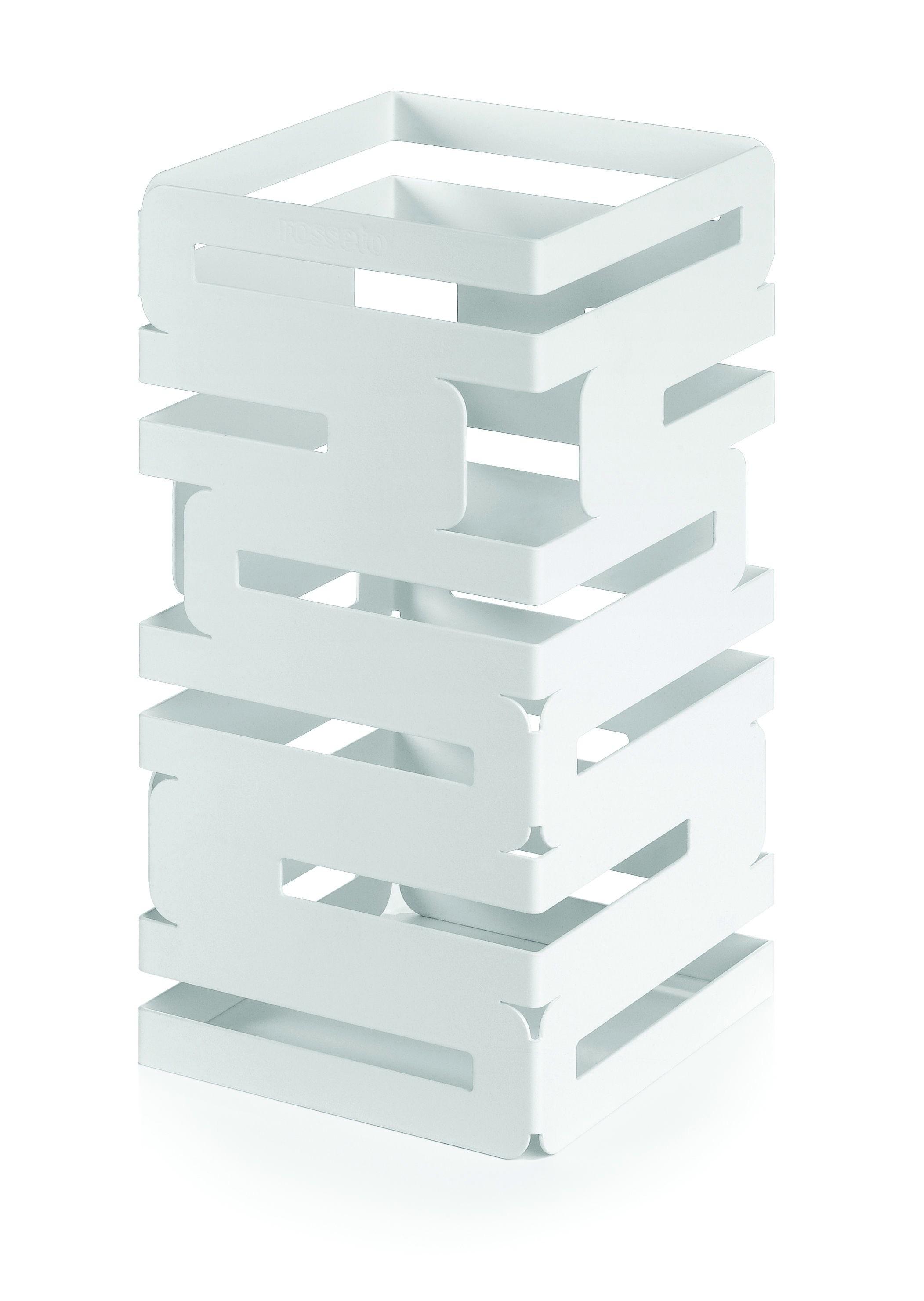 """Rosseto SM130 Skycap White Matte Steel Square Multi-Level Riser 6"""" x 6"""" x 12""""H"""