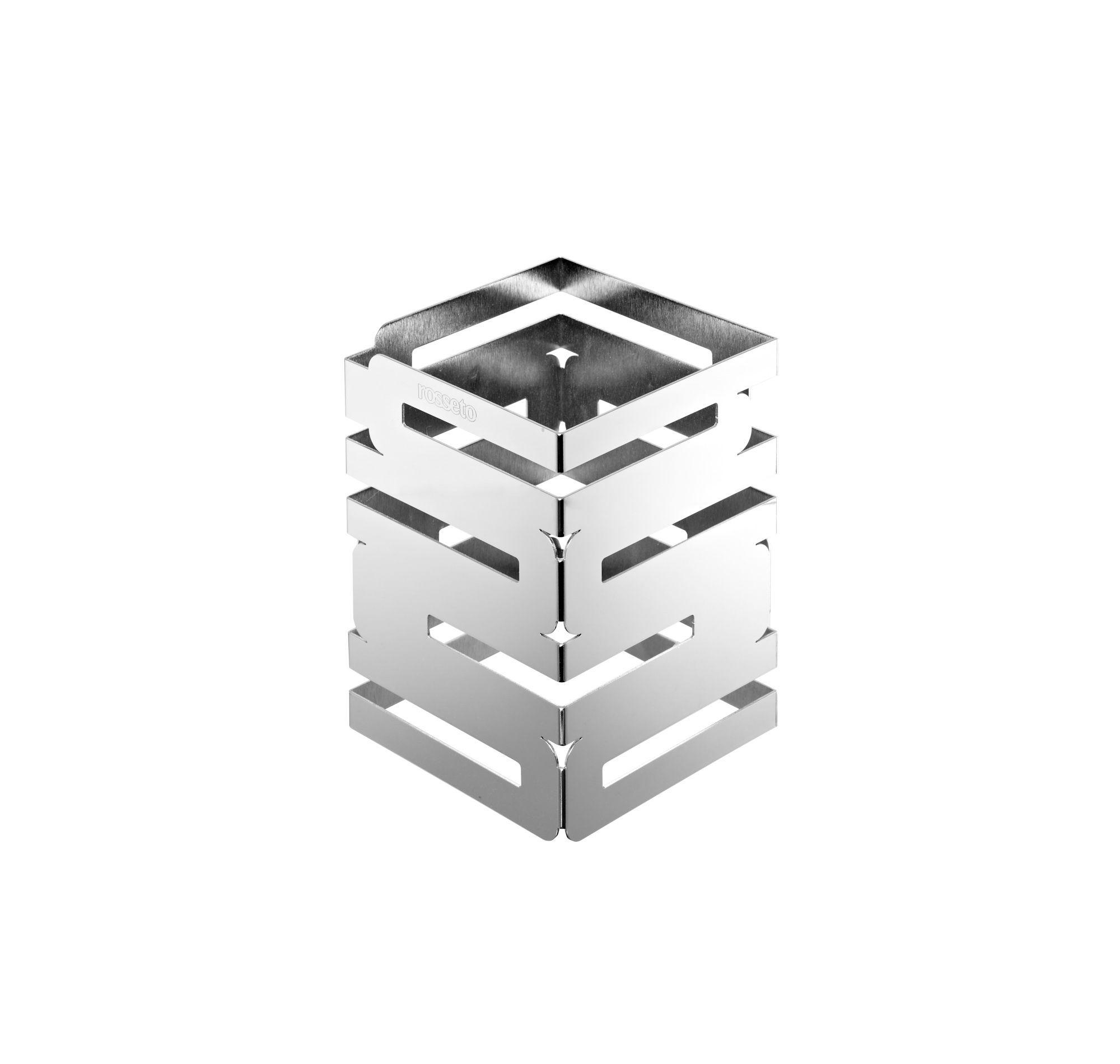 "Rosseto SM105 Skycap Chrome Plated Mirror Finish Square Multi-Level Riser 6"" x 6"" x 8""H"