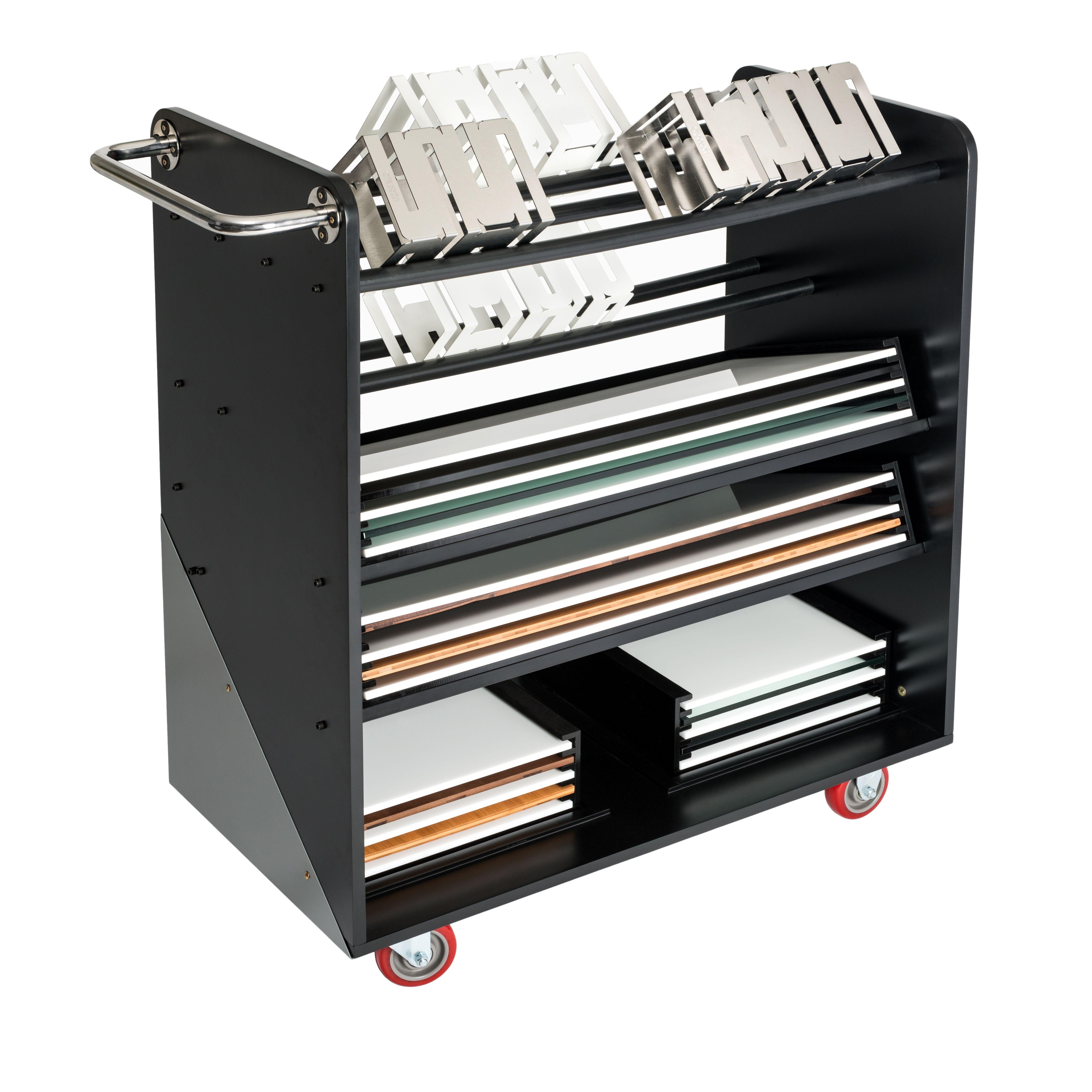 "Rosseto SM132 SKYCAP Multi-Level Riser Transportation & Storage Cart with Wheels 42"" x 19.25"" x 40""H"