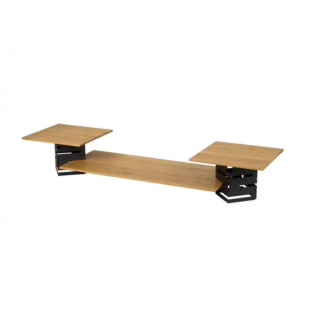 Rosseto SK003 SKYCAP Five Piece Black & Bamboo Riser Kit