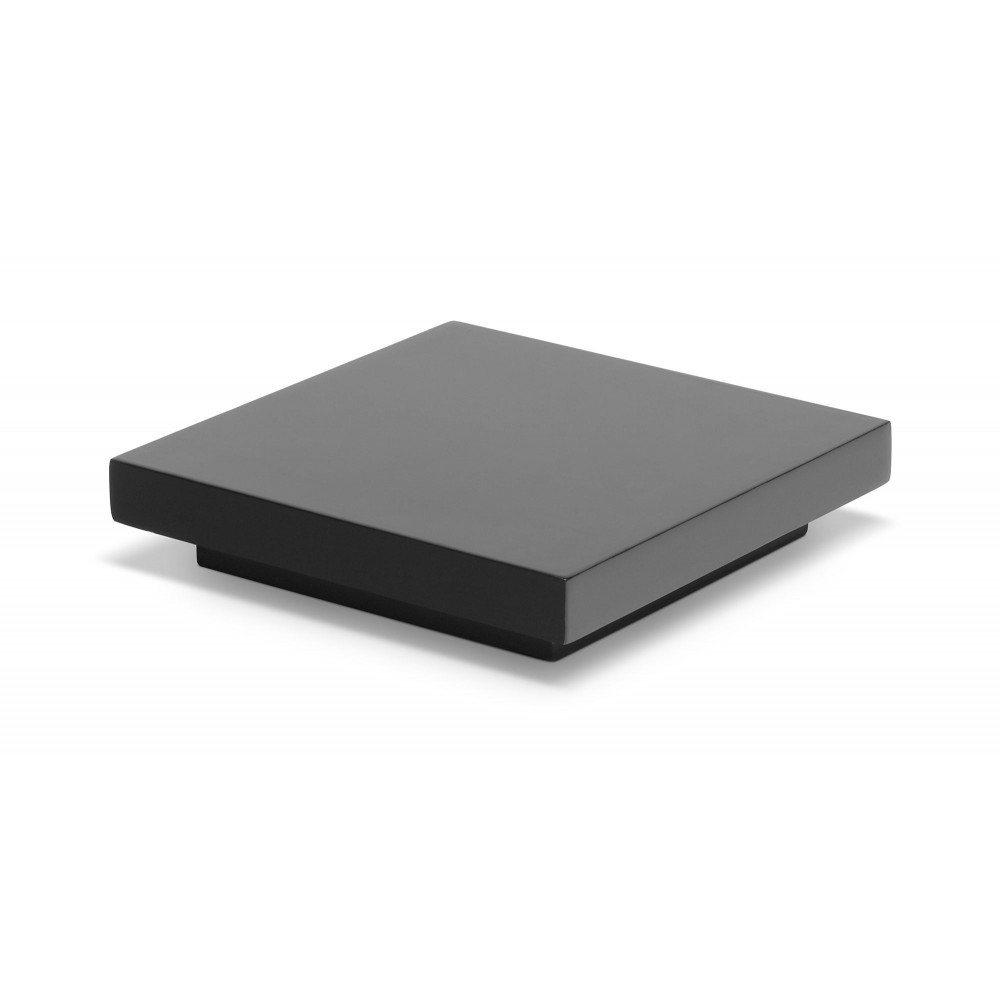 "Rosseto SW105 SKYCAP Black Gloss Square Cap for Skycap Risers 6.7"" x 6.7"" x 1.4""H"