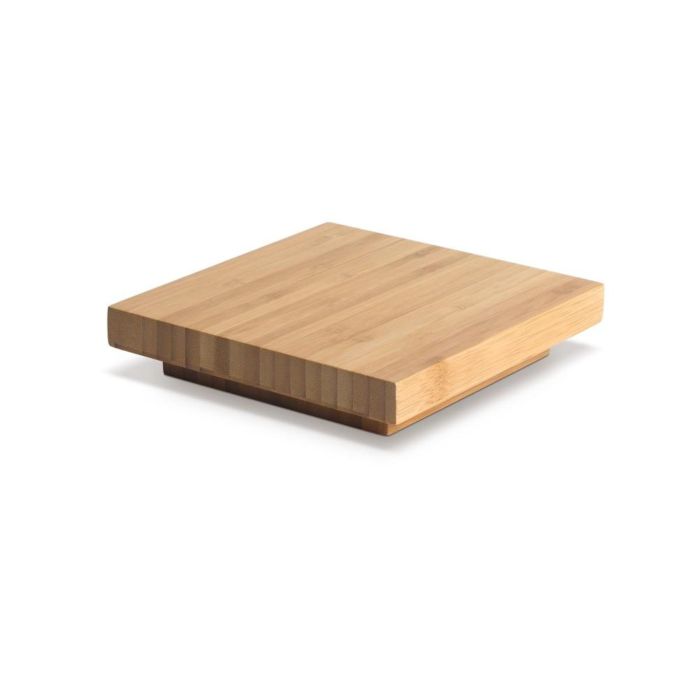 Multi-Level Riser Cap Square Natural Bamboo- 6.7