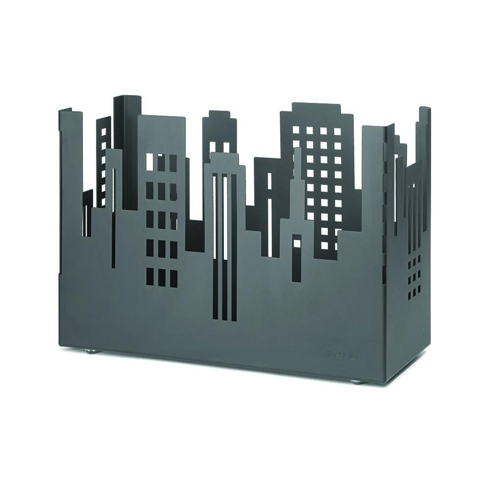 """Rosseto SM158 Black Matte Steel Brushed Finish City Riser 18"""" x 7"""" 13""""H"""