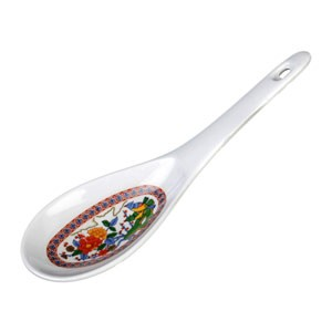 Thunder Group 7005P Peacock Melamine Rice Ladle 1.5 oz.