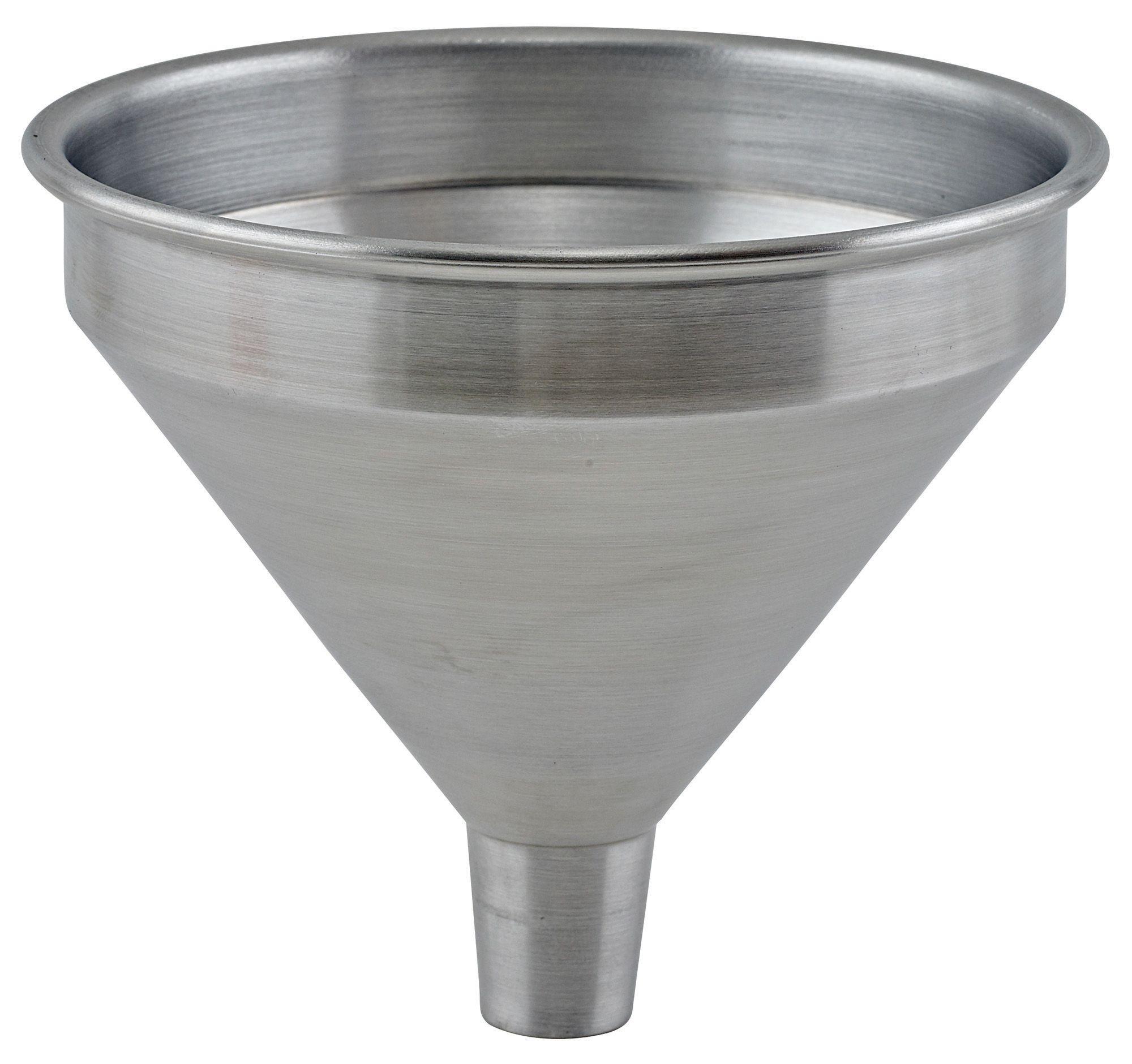 "Winco SAF-05 1/2 Pint Spun Aluminum Funnel, 3-7/8"" Dia. x 3-5/8""H"