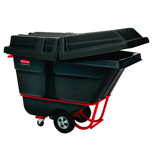 Commercial Rotomolded Tilt Truck, Black, Rectangular, 1,250 lb Capacity