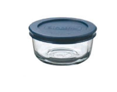 Anchor Hocking 85905L11 1 Cup Kitchen Storage Container with Blue Lid