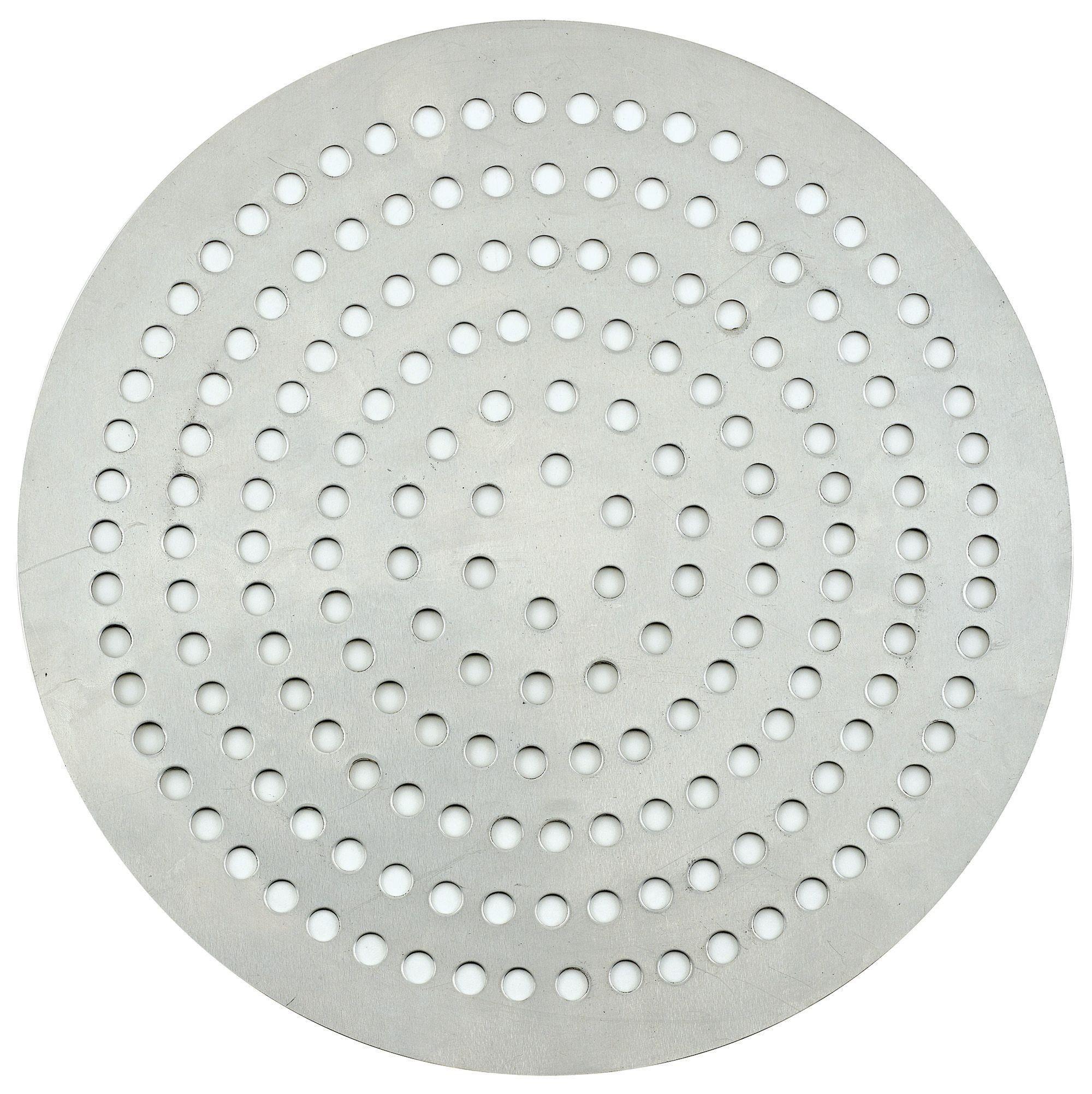 """Winco APZP-10SP 10"""" Aluminum Super-Perforated Pizza Disk"""