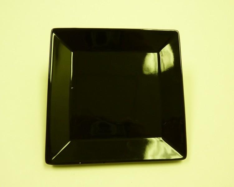 """Yanco ca-110bk Carnival Black 10"""" Square Plate"""