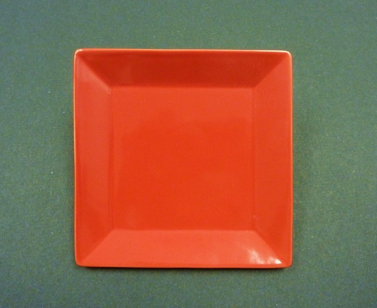 "Yanco CA-110RD Carnival Red 10"" Square Plate"