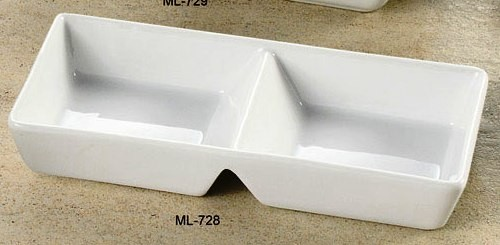 """Yanco ML-728 Mainland 10"""" x 4"""" x 1 5/8"""" Two Divided Tray"""