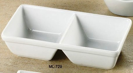 "Yanco ML-729 Mainland 10"" x 5 1/2"" x 2 5/8"" Two Divided Tray"