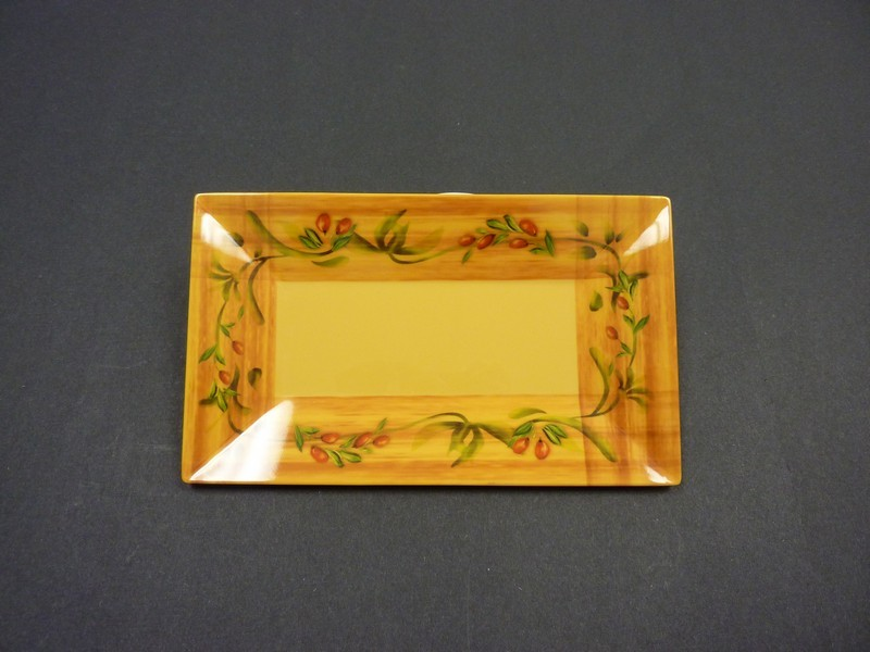 "Yanco OL-210 Olive 10"" x 6"" Rectangular Plate"