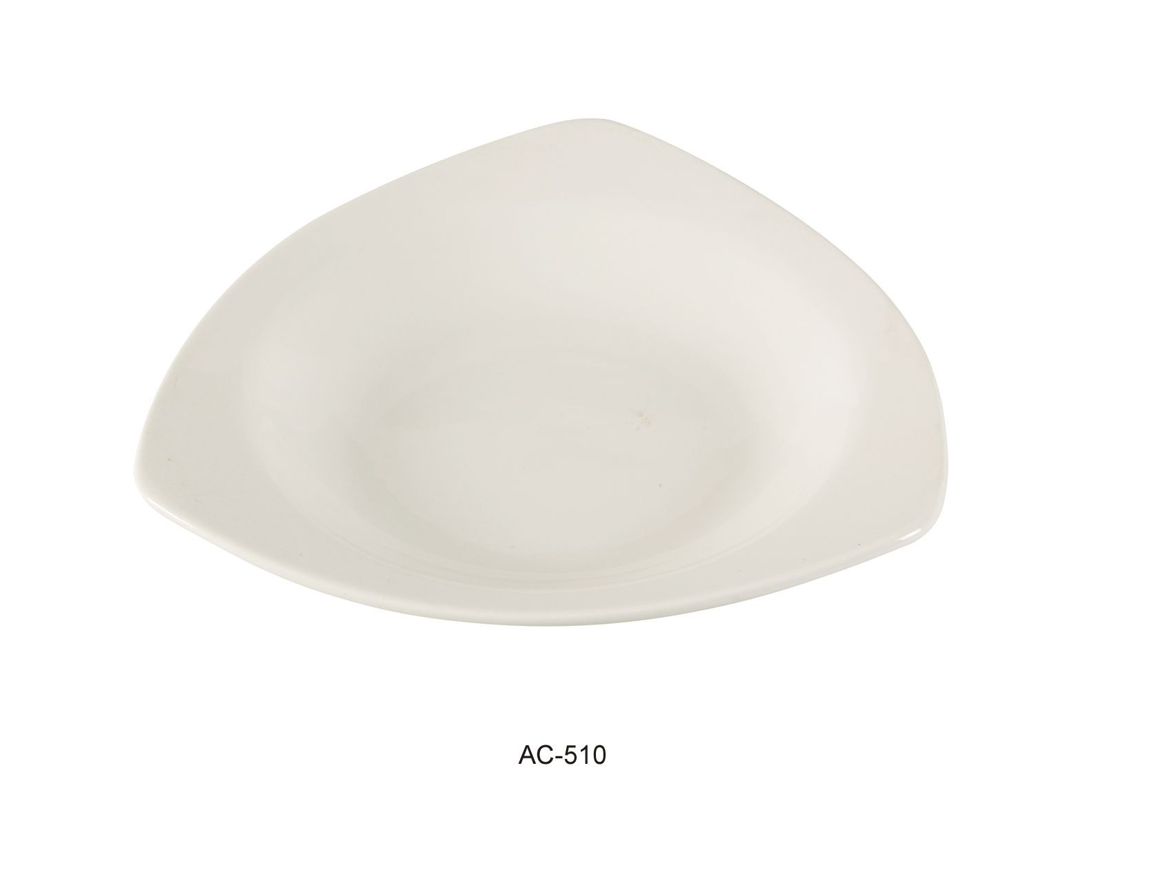 "Yanco AC-510 Abco 10 1/2"" Triangle Pasta Bowl 22 oz."