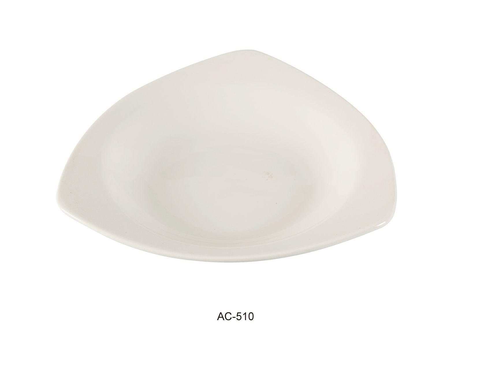 "Yanco AC-510 Abco 10 1/2"" Triangle Pasta Bowl 22 oz."