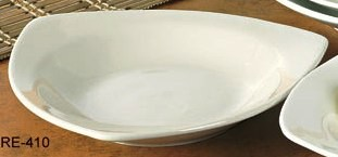 "Yanco RE-410 Recovery 10 1/2"" Triangle Pasta Bowl 22 oz."