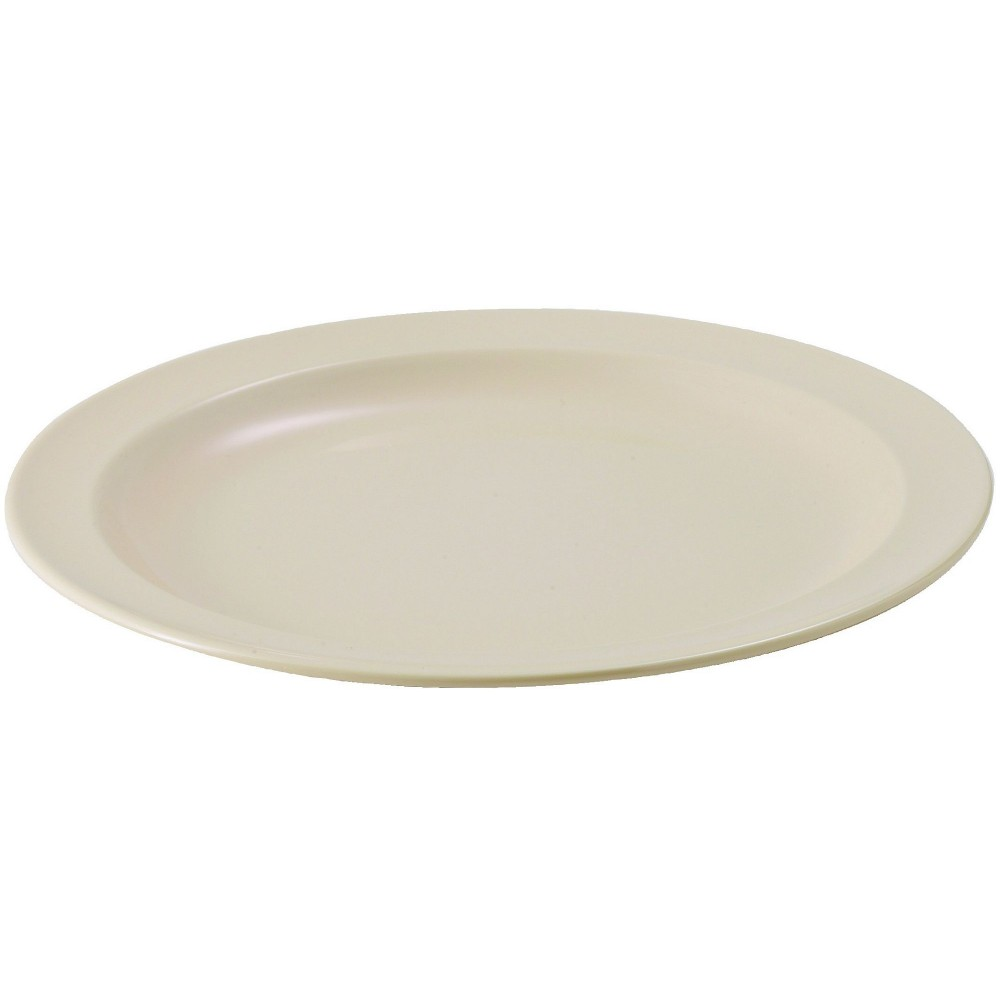 "Winco MMPR-10 Tan Melamine 10 1/4"" Round Plate"