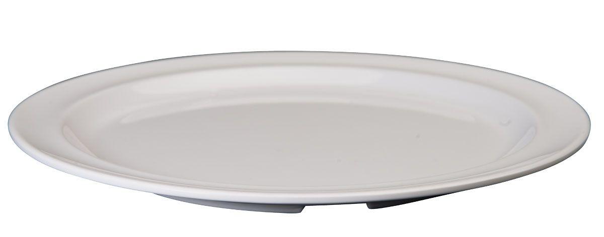 "Winco MMPR-10W White Melamine 10 1/4"" Round Plate"