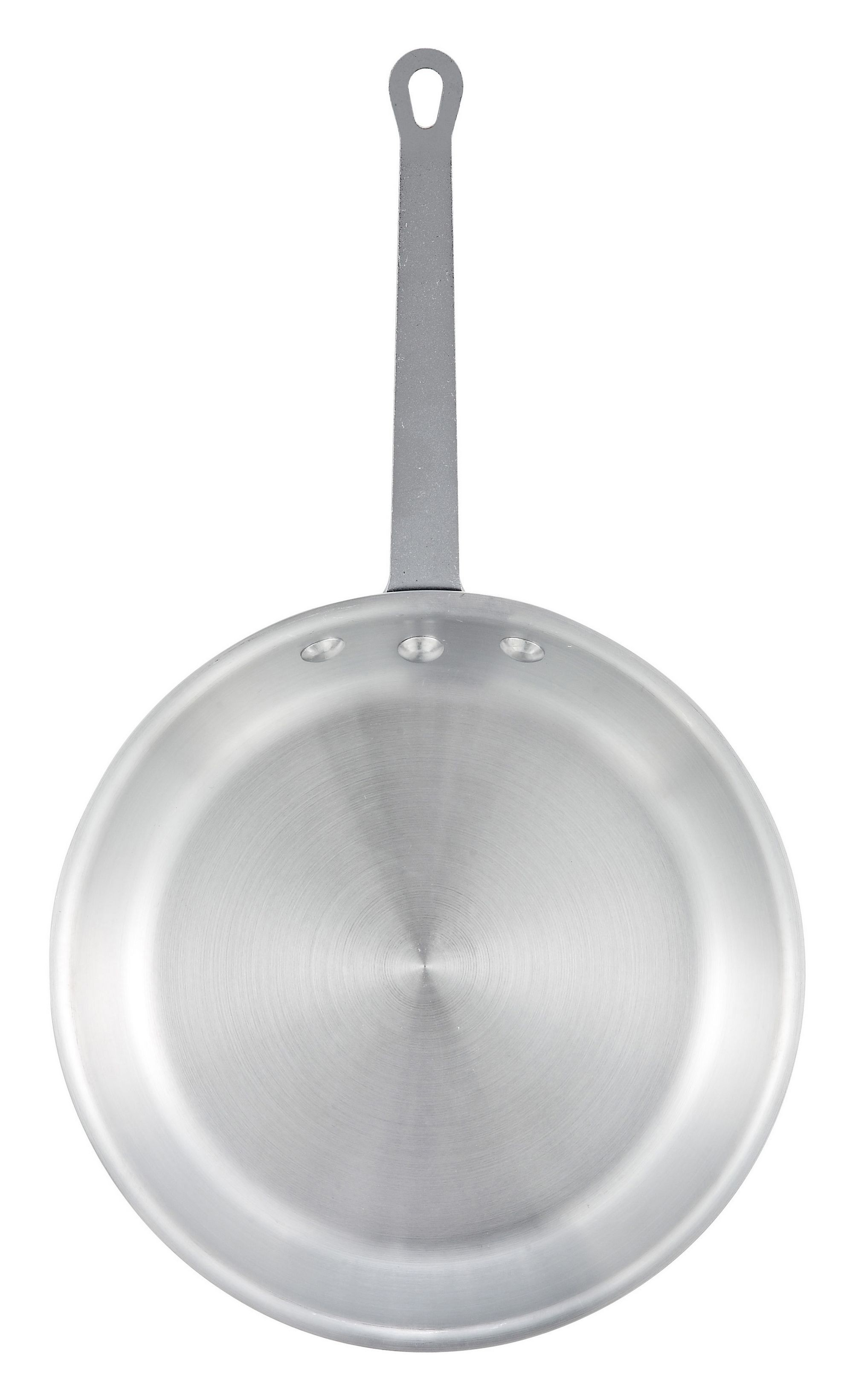 "Winco AFP-10S 10"" Majestic Aluminum Fry Pan with Natural Finish"