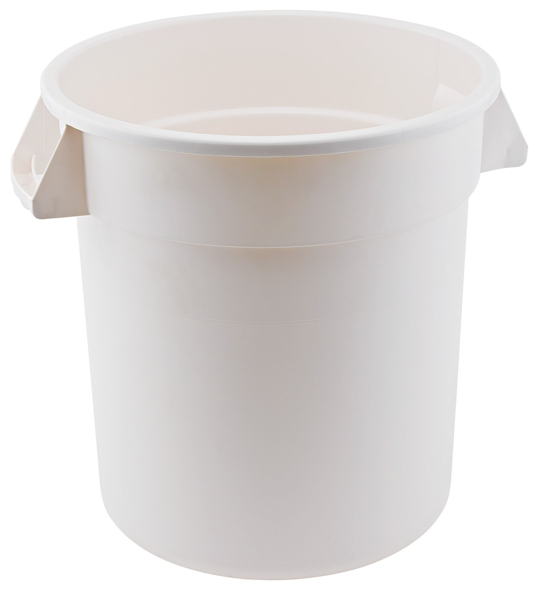 Winco FCW-10 10 Gallon Heavy Duty White Polyethylene Container