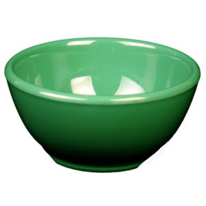 Thunder Group CR5804GR Green Melamine 10 oz. Soup Bowl 4-5/8""