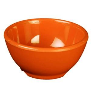 Thunder Group CR5804RD Orange Melamine 10 oz. Soup Bowl 4-5/8""