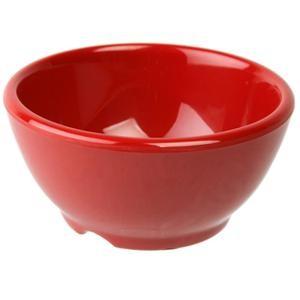 "Thunder Group CR5804PR Pure Red Melamine 10 oz. Soup Bowl 4-5/8"""