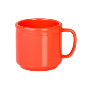 Thunder Group CR9035RD Orange Melamine Mug 10 oz.