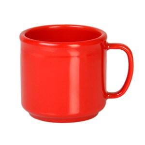 Thunder Group CR9035PR Pure Red Melamine Mug 10 oz.